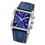 Festina Herren Armbanduhr Chronograph F20424/2 Quarz Leder blau UF20424/2