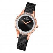Festina Damen Armbanduhr Mademoiselle F20496/2 Edelstahl schwarz UF20496/2
