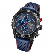 Festina Herren Armbanduhr Chronograph F20519/3 Analog Leder blau UF20519/3