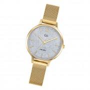 Girl Only Damen Armbanduhr GO 695234 Analog Quarz Uhr Edelstahl gold UGO695234