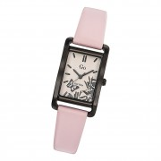 Girl Only Damen Armbanduhr GO 699117 Analog Quarz Uhr Leder rosa UGO699117