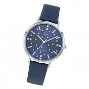 Girl Only Damen Armbanduhr GO 699282 Analog Quarz Uhr Leder blau UGO699282