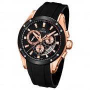 JAGUAR Herren-Armbanduhr Special Edition Saphirglas Quarz PU schwarz UJ691/1
