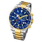 Jaguar Herren-Armbanduhr Edelstahl silber gold J862/1 Saphir Executive UJ862/1