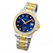 Jaguar Damen Armbanduhr Cosmopolitan J893/2 Analog Edelstahl silber gold UJ893/2