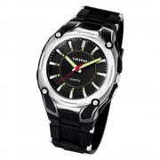 CALYPSO Herren-Armbanduhr Sport analog Quarz-Uhr PU schwarz UK5560/2