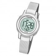 Calypso Kinder Armbanduhr Digital Crush K5736/1 Quarz-Uhr PU silber UK5736/1