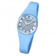 Calypso Damen Armbanduhr Trendy K5752/3 Quarzwerk-Uhr PU blau UK5752/3