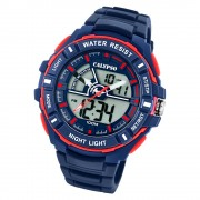 Calypso Herren Armbanduhr Street Style K5769/2 Quarz-Uhr PU blau UK5769/2