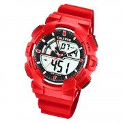 Calypso Herren Armbanduhr Street Style K5771/2 Quarz-Uhr PU rot UK5771/2