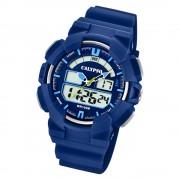 Calypso Herren Armbanduhr Street Style K5772/3 Quarz-Uhr PU blau UK5772/3