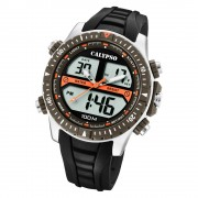 Calypso Herren Armbanduhr Street Style K5773/1 Quarz-Uhr PU schwarz UK5773/1