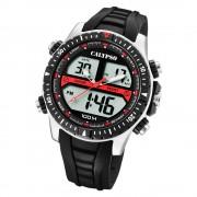 Calypso Herren Armbanduhr Street Style K5773/4 Quarz-Uhr PU schwarz UK5773/4