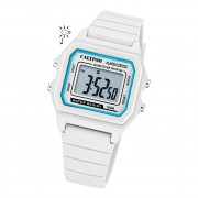 Calypso Herren Armbanduhr Sport K5805/1 Digital Kunststoff weiß UK5805/1