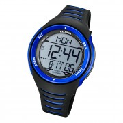Calypso Herren Armbanduhr K5807/4 Digital Kunststoff schwarz blau UK5807/4