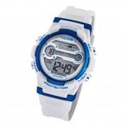 Calypso Jugend Armbanduhr Sport K5808/1 Digital Kunststoff weiß blau UK5808/1