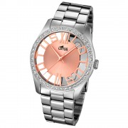 LOTUS Damen-Armbanduhr Analog Quarz Edelstahl silber UL18126/1