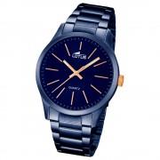 LOTUS Herren-Armbanduhr Analog Quarz Edelstahl blau UL18163/2