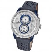 Lotus Herren-Armbanduhr Leder blau 18367/1 Quarz Khrono UL18367/1