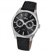 Lotus Herren-Armbanduhr Leder schwarz 18374/4 Quarz Multifunktion UL18374/4