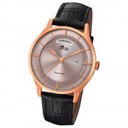 Lotus Herren-Armbanduhr Leder schwarz 18422/1 Quarz Retro UL18422/1