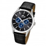 Lotus Herren-Armbanduhr Leder schwarz 18576/6 Quarz Minimalist UL18576/6
