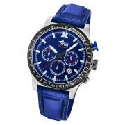 LOTUS Herren Armbanduhr Lotus R 18587/2 Quarz Leder blau UL18587/2