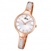 LOTUS Damen Armbanduhr Bliss 18596/1 Edelstahl rosegold silber UL18596/1