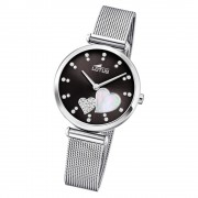 LOTUS Damen Armbanduhr Swarovski Elements 18615/4 Edelstahl silber UL18615/4