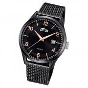 LOTUS Herren Armbanduhr Minimalist 18633/1 Quarz Edelstahl schwarz UL18633/1