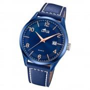 LOTUS Herren Armbanduhr Minimalist 18635/1 Quarz Leder blau UL18635/1