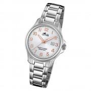 LOTUS Damen Armbanduhr Classic 18655/4 Quarz Edelstahl silber UL18655/4