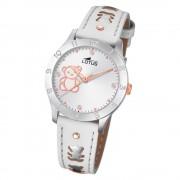 LOTUS Jugend Armbanduhr Junior 18657/A Quarz Leder weiß UL18657/A