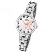 LOTUS Jugend Armbanduhr Junior 18658/5 Quarz Edelstahl silber UL18658/5
