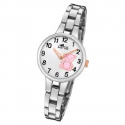 LOTUS Jugend Armbanduhr Junior 18658/6 Quarz Edelstahl silber UL18658/6