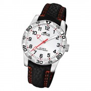 LOTUS Jugend Armbanduhr Junior 18665/1 Quarz Leder schwarz UL18665/1
