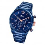 LOTUS Herren Armbanduhr Khrono 18680/2 Quarz Edelstahl blau UL18680/2
