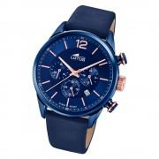 LOTUS Herren Armbanduhr Khrono 18681/2 Quarz Leder blau UL18681/2
