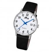 LOTUS Herren Armbanduhr Classic 18695/1 Quarz Leder schwarz UL18695/1