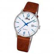 LOTUS Herren Armbanduhr Classic 18695/2 Quarz Leder braun UL18695/2