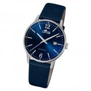 LOTUS Herren Armbanduhr Classic 18695/3 Quarz Leder blau UL18695/3