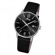 LOTUS Herren Armbanduhr Classic 18695/4 Quarz Leder schwarz UL18695/4