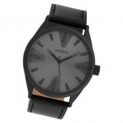 Oozoo Herren Armbanduhr Timepieces C10024 Quarz Leder schwarz UOC10024