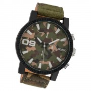Oozoo Herren Armbanduhr Timepieces C10066 Quarzwerk-Uhr Leder UOC10066