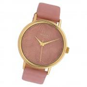 Oozoo Damen Armbanduhr Timepieces C10081 Quarzwerk Leder altrosa UOC10081