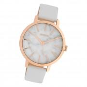 Oozoo Damen Armbanduhr Timepieces C10110 Analog Leder weiß UOC10110