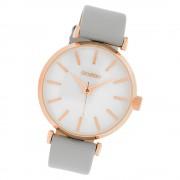 Oozoo Damen Armbanduhr Timepieces C10143 Quarz Leder hellgrau UOC10143