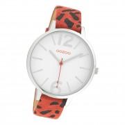 Oozoo Damen Armbanduhr Timepieces C10194 Analog Leder rot schwarz UOC10194