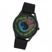 Oozoo Damen Armbanduhr Ultra Slim C10253 Analog Edelstahl schwarz UOC10253