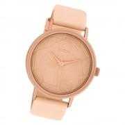 Oozoo Damen Armbanduhr Timepieces C10390 Quarzwerk Leder rosa UOC10390
